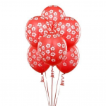 Red Hibiscus Balloons