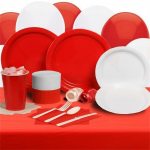 Red and White Party Plate Set