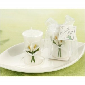 Calla Lily Wedding Candle Decoration