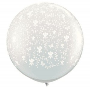 Clear Wedding Balloon with Flowers from Amazon