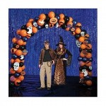 Halloween Balloon Arch with Spiders and Skulls