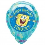 Personalized Sponge Bob Birthday Balloon