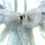 Silver Chair Bows