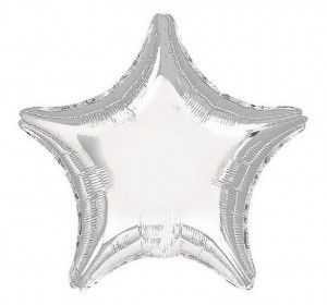 Silver Mylar Star Balloon