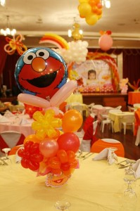 Sesame Street Party Balloon Centerpiece Ideas