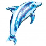 Mylar Dolphin Balloon Transparent