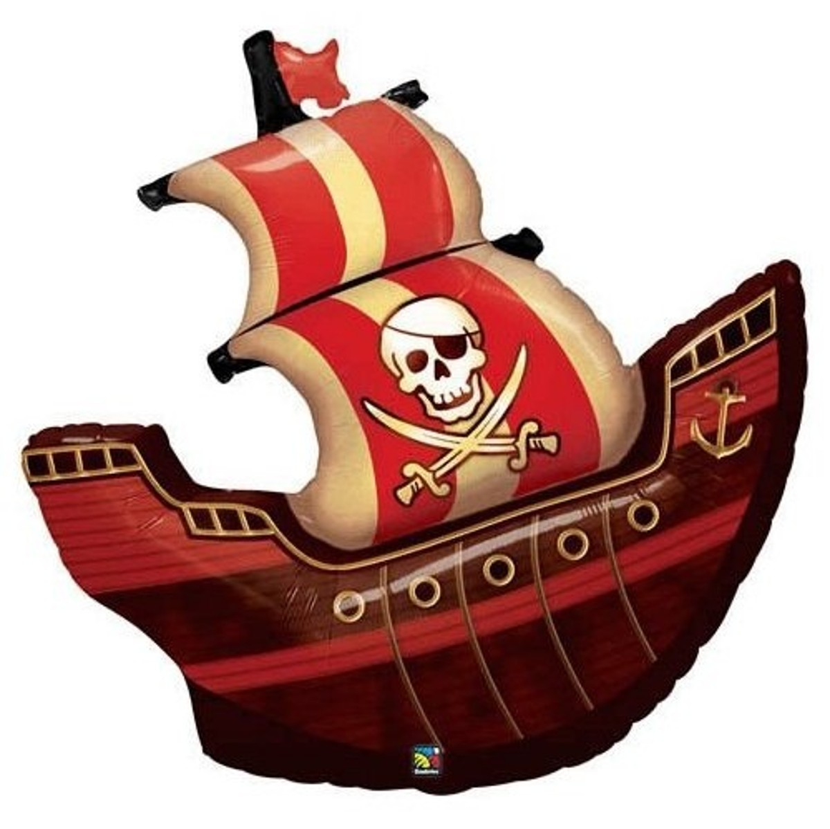 Mylar Pirate Ship Balloon