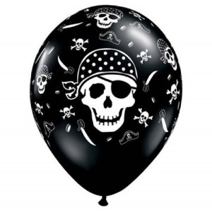 Pirate Balloon Black Latex