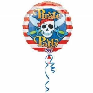 Pirate Party Balloon Red White Blue