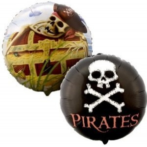 Skull and Crossbones Pirate Balloons