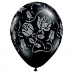 Black Filigree Balloons