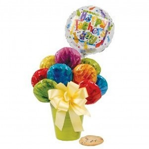 Fathers Day Balloon Cookie Bouquet