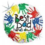 Fathers Day Balloon Mylar Best Dad