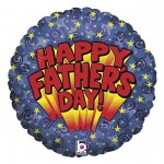 Fathers Day Balloon Mylar Blue