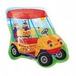 Fathers Day Balloon Mylar Golf Cart