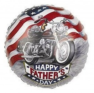 Fathers Day Balloon Mylar Motorcycle