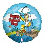 Fathers Day Balloon Mylar The Simpsons