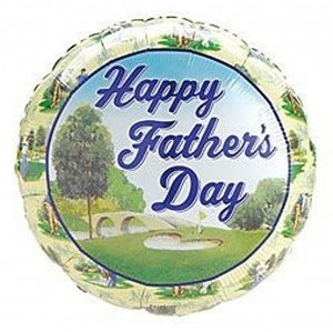Happy Fathers Day Balloon Mylar Golf Course