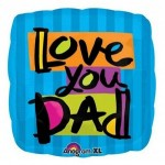 Love You Dad Mylar Balloon
