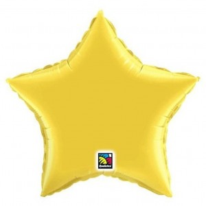 20 inch Gold Mylar Star Balloon