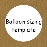 Cardboard balloon templates