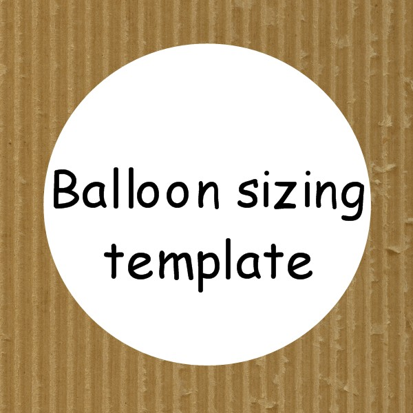 Cardboard balloon template