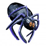 Glossy Halloween Balloon Spider